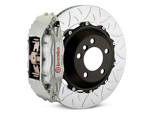 Brembo GT Series 4-Piston Rear Brake Kit - Type 3 Slotted Rotors - Silver (14-18 Silverado 1500)