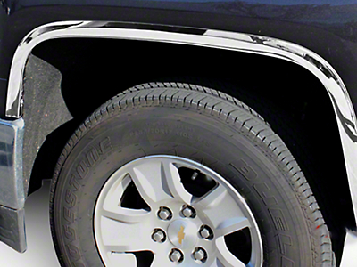 Stainless Steel Fender Trim - Chrome (14-15 Silverado 1500)