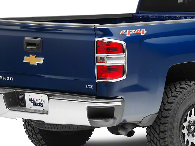 Chrome Tail Light Covers (14-16 Silverado 1500, Excluding LTZ)