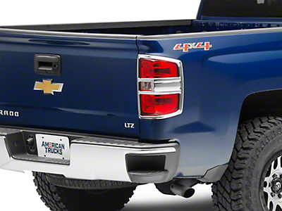 Chrome Tail Light Covers (14-16 Silverado 1500, Excluding LTZ)