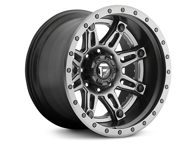 Fuel Wheels Hostage II Black w/ Anthracite Ring 6-Lug Wheel; 20x10 (99-20 Silverado 1500)