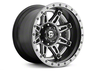 Fuel Wheels Hostage II Black w/ Anthracite Ring 6-Lug Wheel - 20x10 (99-18 Silverado 1500)