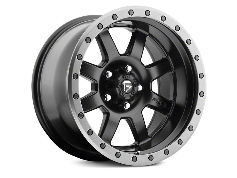 Fuel Wheels Trophy Matte Black w/ Anthracite Ring 6-Lug Wheel - 20x9 (07-18 Silverado 1500)