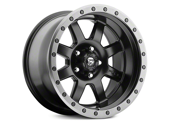 Fuel Wheels Trophy Matte Black with Anthracite Ring 6-Lug Wheel; 20x9; 1mm Offset (14-18 Silverado 1500)