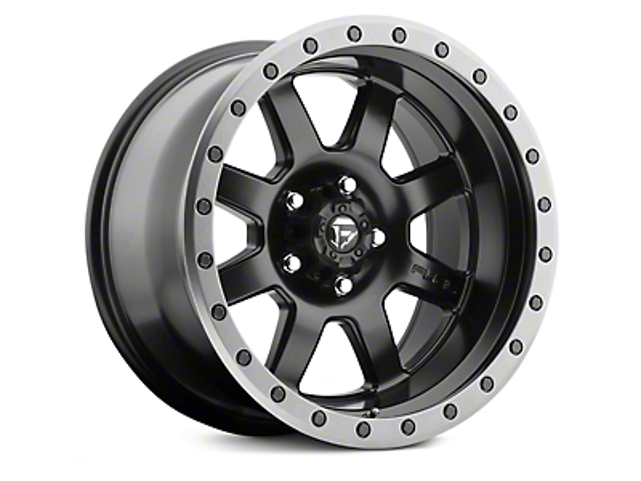 Fuel Wheels Trophy Matte Black w/ Anthracite Ring 6-Lug Wheel - 20x9 (99-18 Silverado 1500)