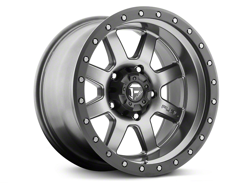 Fuel Wheels Trophy Anthracite w/ Black Ring 6-Lug Wheel - 20x9 +01mm Offset (99-19 Silverado 1500)