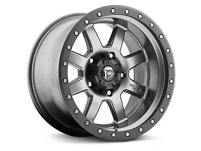 Fuel Wheels Trophy Anthracite w/ Black Ring 6-Lug Wheel - 20x9 (99-18 Silverado 1500)