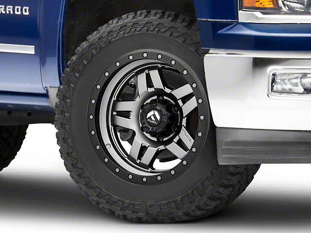 Fuel Wheels Anza Anthracite w/ Black Ring 6-Lug Wheel - 20x9; 20mm Offset (99-19 Silverado 1500)