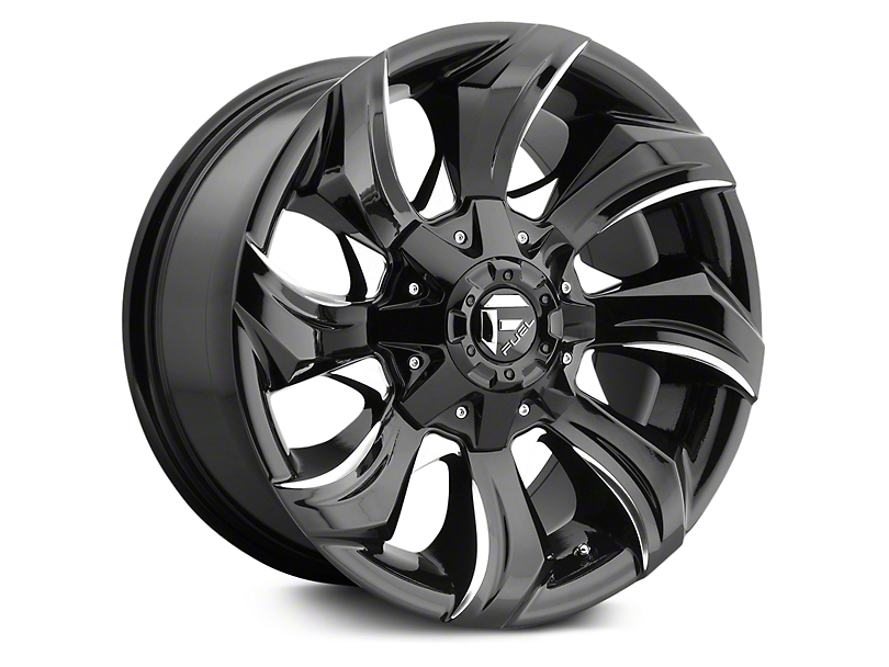 Fuel Wheels Stryker Black Milled 6-Lug Wheel - 17x9 (07-18 Silverado 1500)