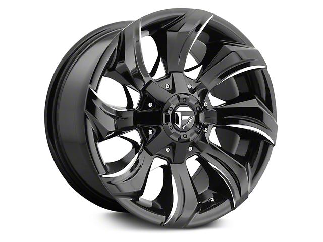 Fuel Wheels Stryker Black Milled 6-Lug Wheel; 17x9 (07-18 Silverado 1500)