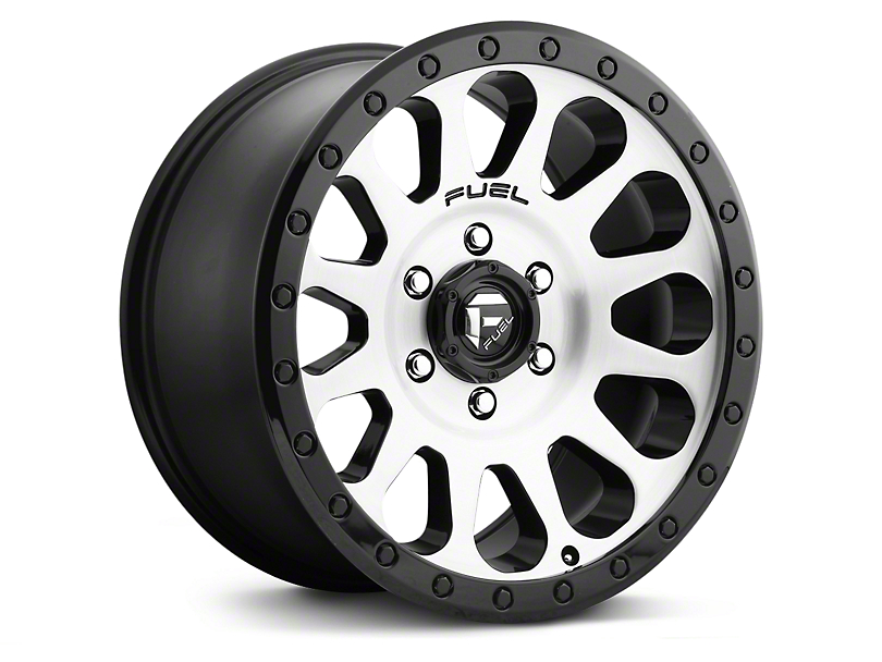 Fuel Wheels Vector Brushed w/ Black Ring 6-Lug Wheel - 17x8.5 (07-18 Silverado 1500)