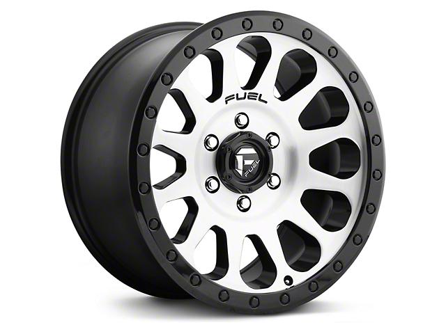 Fuel Wheels Vector Brushed w/ Black Ring 6-Lug Wheel; 17x8.5 (07-18 Silverado 1500)