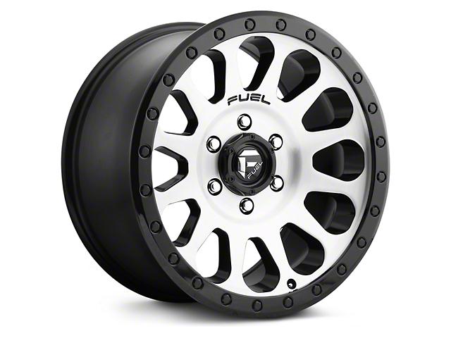 Fuel Wheels Vector Brushed w/ Black Ring 6-Lug Wheel; 20x9 (07-18 Silverado 1500)