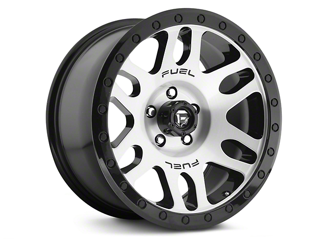 Fuel Wheels Recoil Brushed w/ Black Ring 6-Lug Wheel; 17x8.5 (07-18 Silverado 1500)