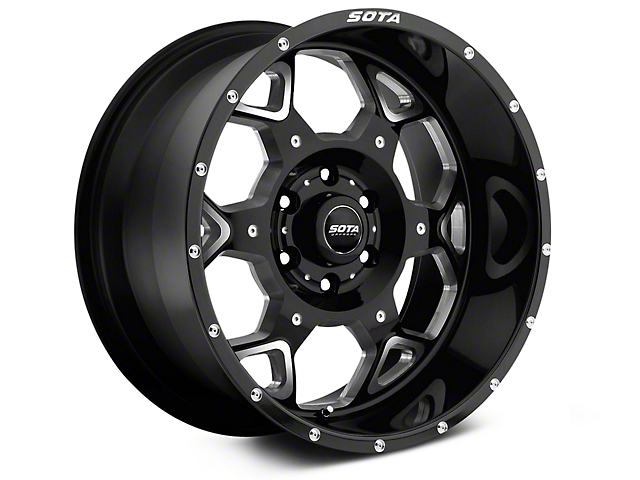 SOTA Off Road S.K.U.L. Death Metal 6-Lug Wheel; 20x9; 0mm Offset (14-18 Silverado 1500)