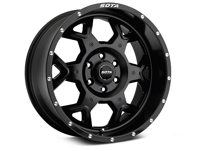 SOTA Off Road S.K.U.L. Stealth Black 6-Lug Wheel; 20x9; 0mm Offset (14-18 Silverado 1500)