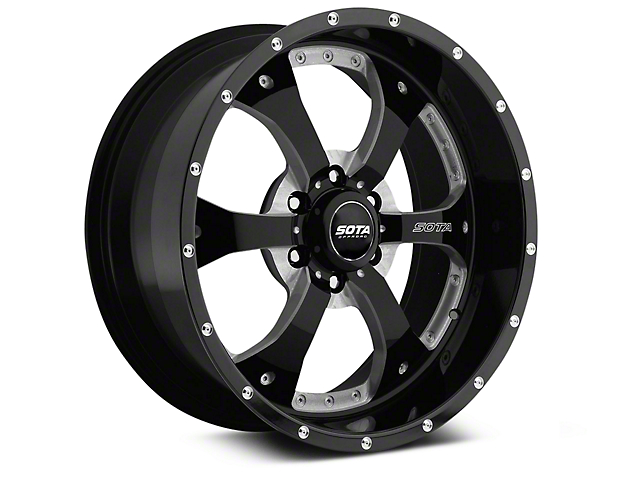 SOTA Off Road NOVAKANE Death Metal 6-Lug Wheel; 22x10.5; -25mm Offset (14-18 Silverado 1500)