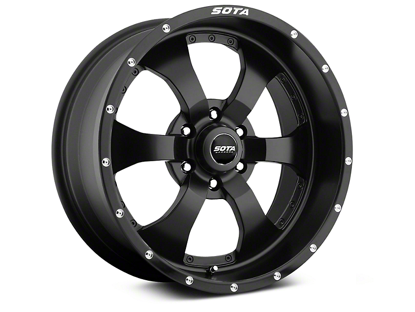 SOTA Off Road NOVAKANE Stealth Black 6-Lug Wheel - 20x9; 0mm Offset (99-19 Silverado 1500)