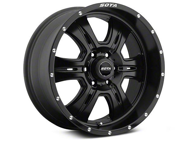 SOTA Off Road REHAB Stealth Black 6-Lug Wheel; 20x9; 0mm Offset (14-18 Silverado 1500)
