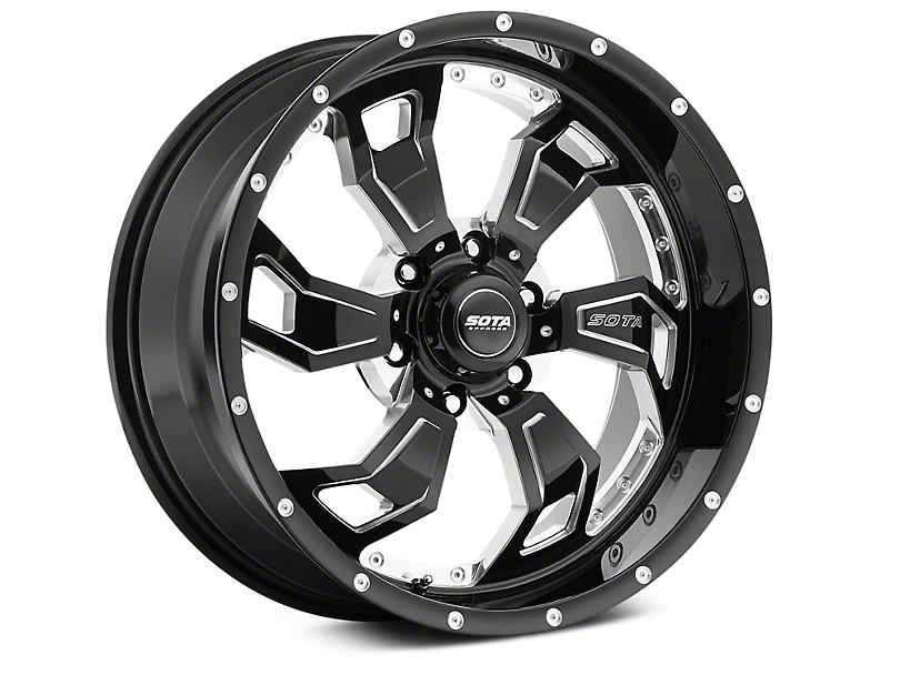 SOTA Off Road S.C.A.R. Death Metal 6-Lug Wheel - 20x9; 0mm Offset (99-20 Silverado 1500)