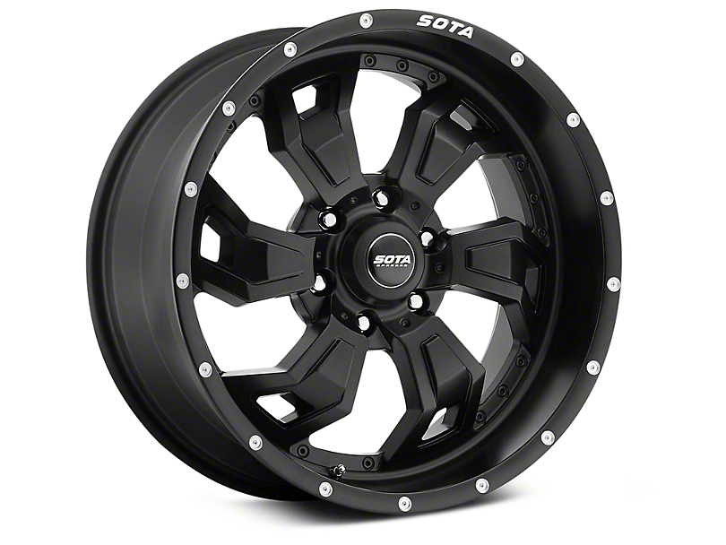 SOTA Off Road SCAR Stealth Black 6-Lug Wheel - 20x9 (07-18 Silverado 1500)