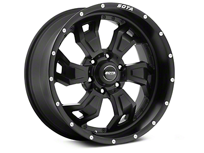 SOTA Off Road SCAR Stealth Black 6-Lug Wheel - 20x9 (99-18 Silverado 1500)
