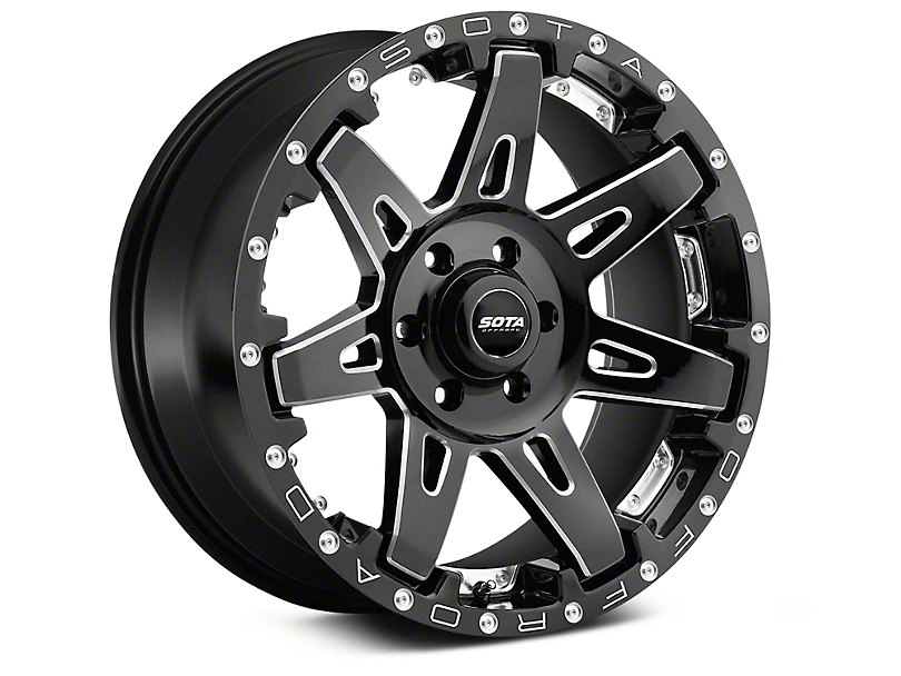 SOTA Off Road B.A.T.L. Death Metal 6-Lug Wheel - 20x10; -19mm Offset (99-20 Silverado 1500)