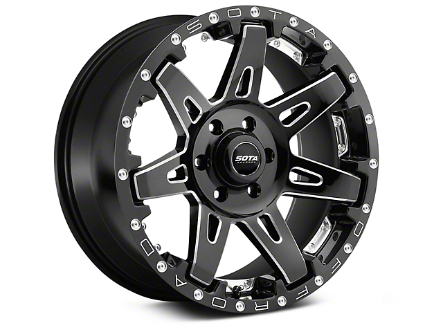 SOTA Off Road B.A.T.L. Death Metal 6-Lug Wheel; 20x10; -19mm Offset (14-18 Silverado 1500)