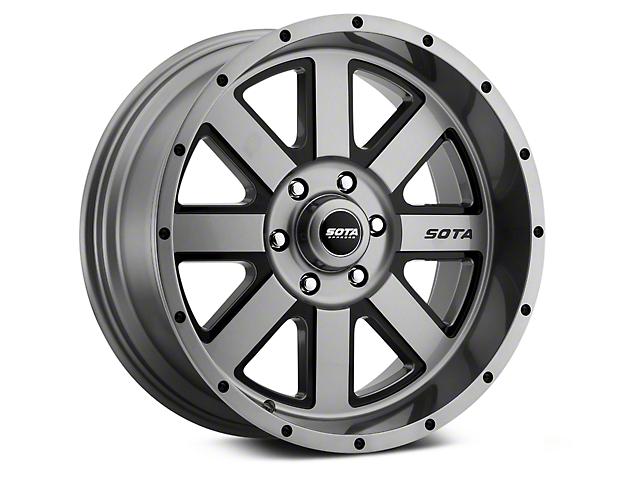 SOTA Off Road A.W.O.L. Anthra-Kote Black 6-Lug Wheel; 20x9; 0mm Offset (14-18 Silverado 1500)