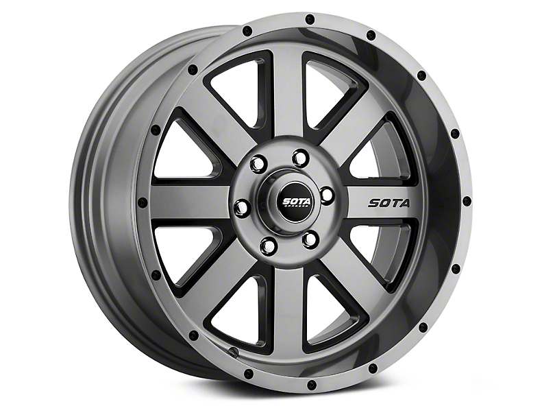 SOTA Off Road A.W.O.L. Anthra-Kote Black 6-Lug Wheel - 20x12; -51mm Offset (99-19 Silverado 1500)