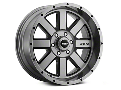 SOTA Off Road AWOL Anthra-Kote Black 6-Lug Wheel - 20x12 (99-18 Silverado 1500)