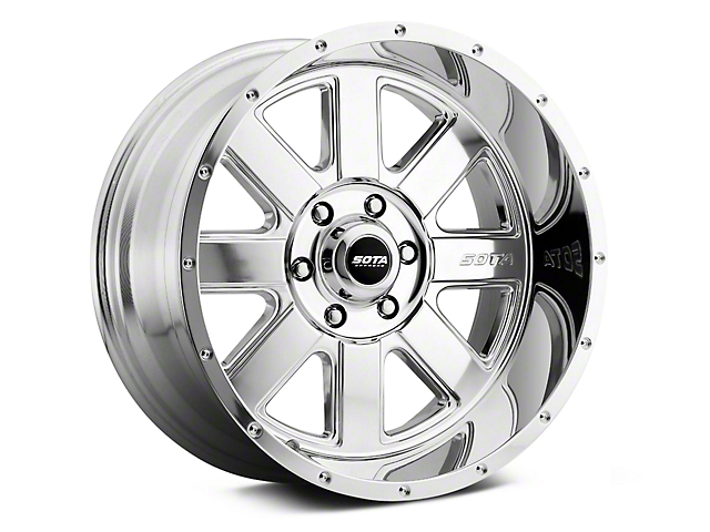 SOTA Off Road A.W.O.L. Polished 6-Lug Wheel; 20x12; -51mm Offset (14-18 Silverado 1500)