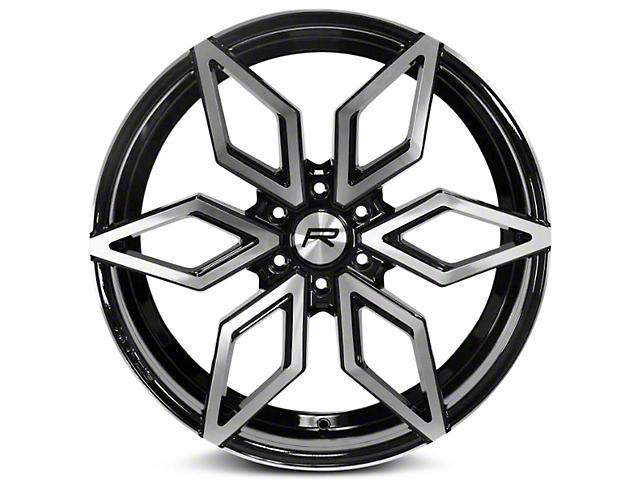 Rovos Gloss Black Machined Kimberley 6-Lug Wheel; 24x10 (07-18 Silverado 1500)