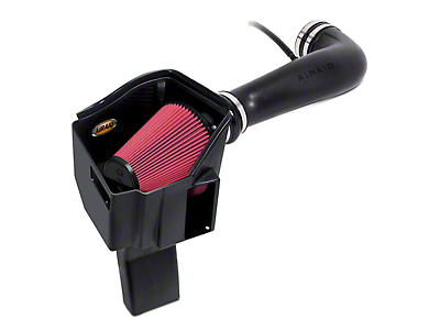 Airaid MXP Series Cold Air Intake w/ Red SynthaMax Dry Filter (09-13 5.3L Silverado 1500 w/ Electric Cooling Fan)