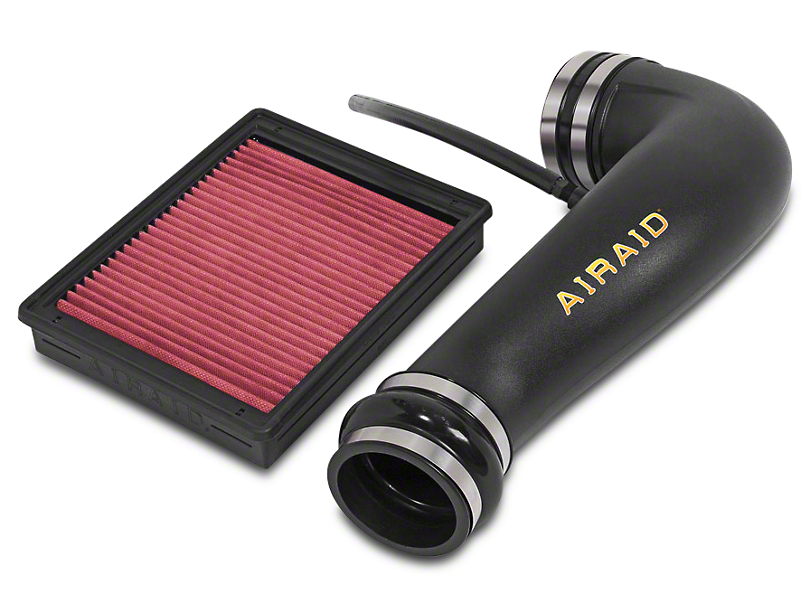 Airaid Jr. Intake Tube Kit - Red SynthaMax Dry Filter (07-13 4.8L, 5.3L, 6.0L, 6.2L w/ Electric Cooling Fan)