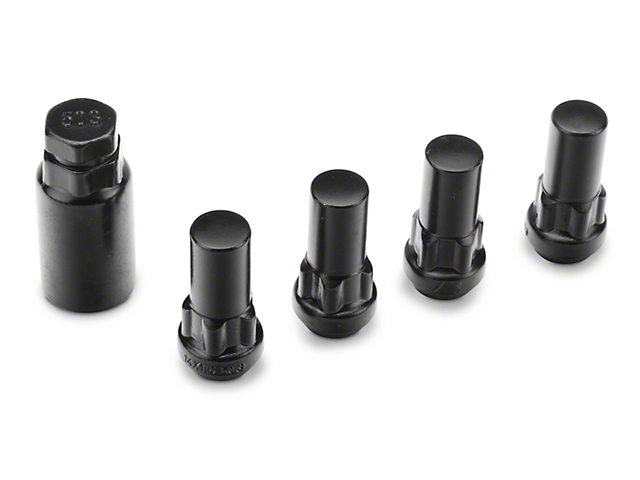XL Locks with Key for Black Acorn Lug Nuts; 14mm x 1.5 (99-21 Silverado 1500)