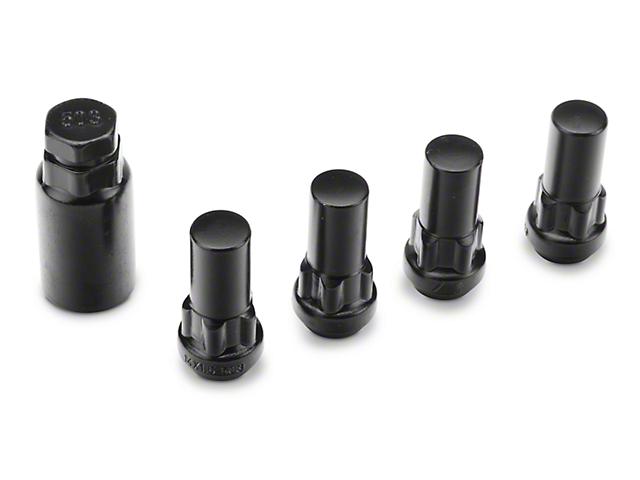 Coyote XL Locks with Key for Black Acorn Lug Nuts - 14mm x 1.50 in. (99-18 Silverado 1500)