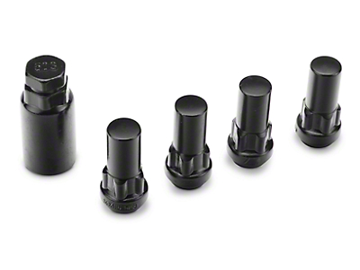 Coyote XL Locks with Key for Black Acorn Lug Nuts - 14mm x 1.50 in. (99-18 Silverado 1500)