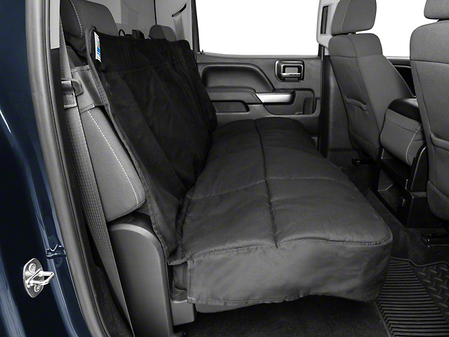 Covercraft Canine Covers Semi-Custom Rear Seat Protector; Black (07-18 Silverado 1500 Extended/Double Cab, Crew Cab)