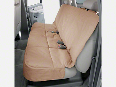 Covercraft Canine Covers Semi-Custom Rear Seat Protector - Tan (07-18 Silverado 1500 Extended/Double Cab, Crew Cab)