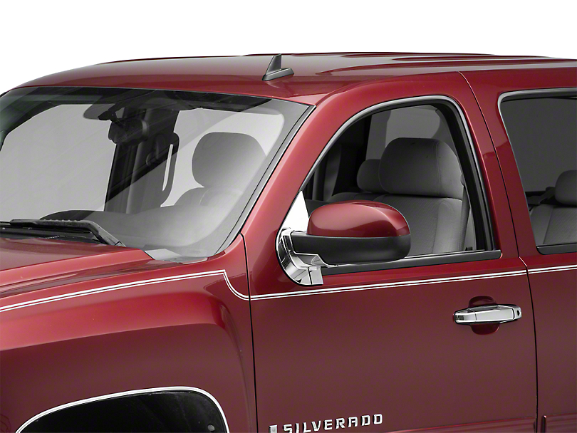 Chrome Mirror Base Covers (07-13 Silverado 1500 w/o Tow Mirrors)