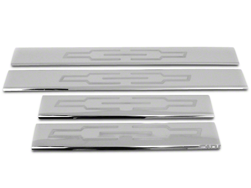 Stainless Steel Door Sill Plate Covers - Polished (07-13 Silverado 1500 Crew Cab)