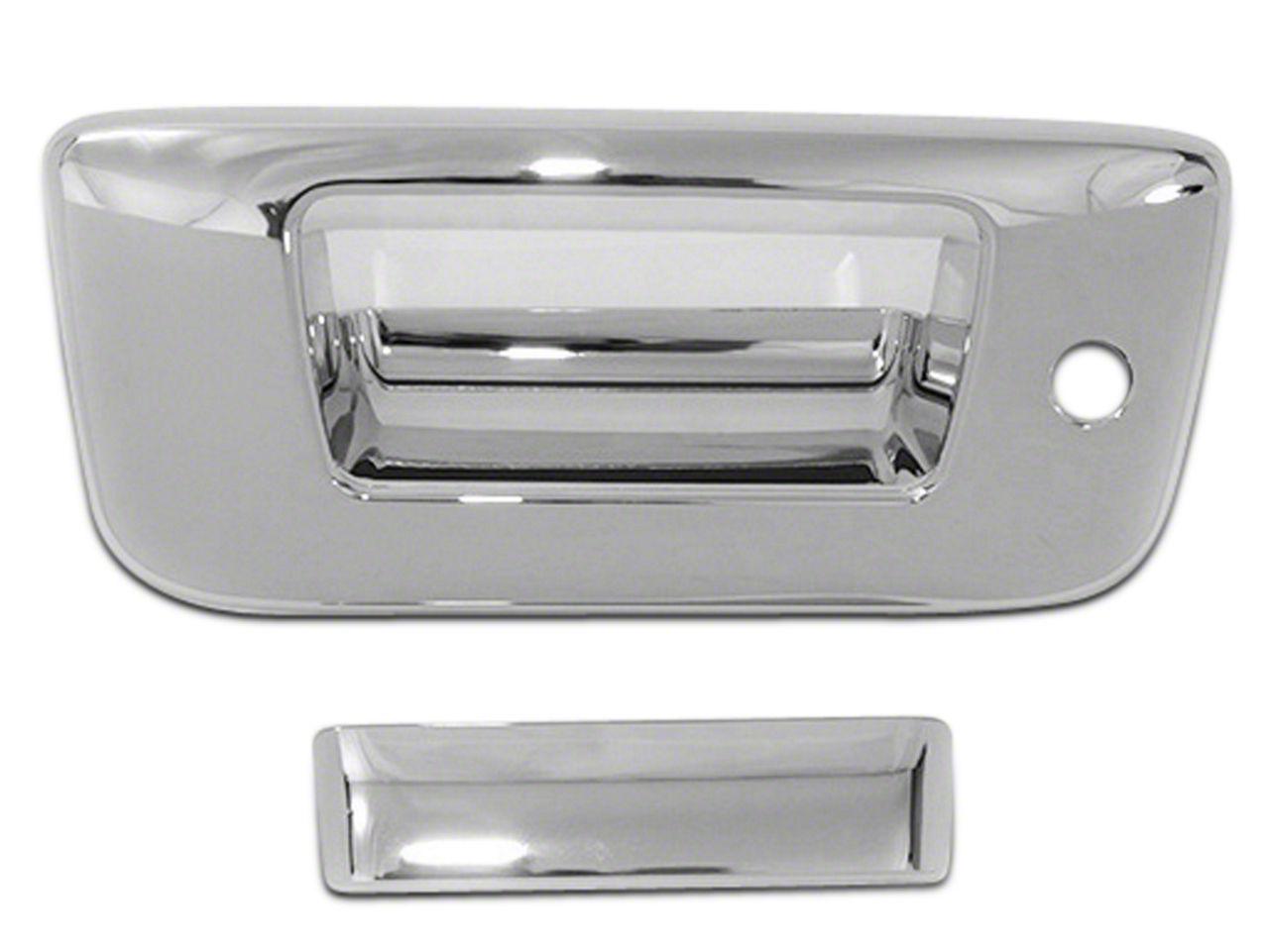 Chrome Tailgate Handle Covers (07-13 Silverado 1500 w/ Lock & w/o Backup Camera)