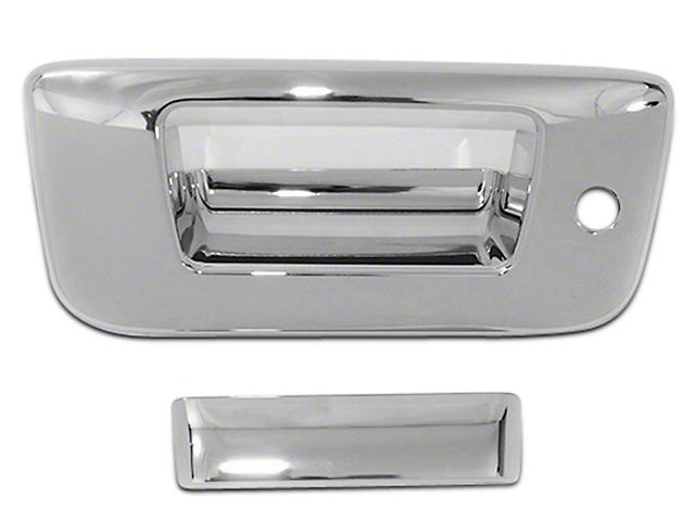 Tailgate Handle Cover; Chrome (07-13 Silverado 1500)