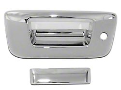 Chrome Tailgate Handle Covers (07-13 Silverado 1500 w/ Lock & w/o Backup Camera)