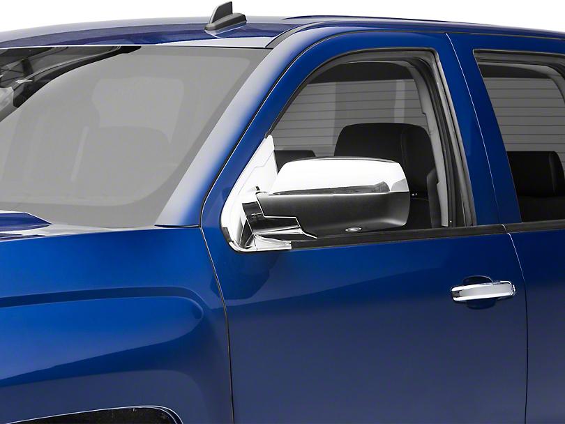 Chrome Mirror Base Covers (14-18 Silverado 1500 w/o Tow Mirrors)