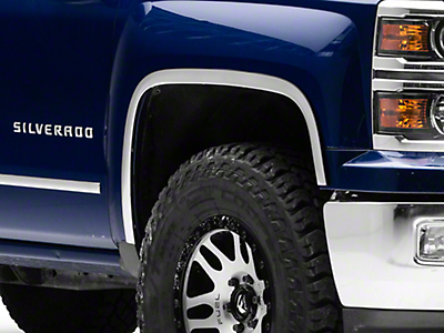 Carrichs Stainless Steel Fender Trim - Polished (14-17 Silverado 1500)