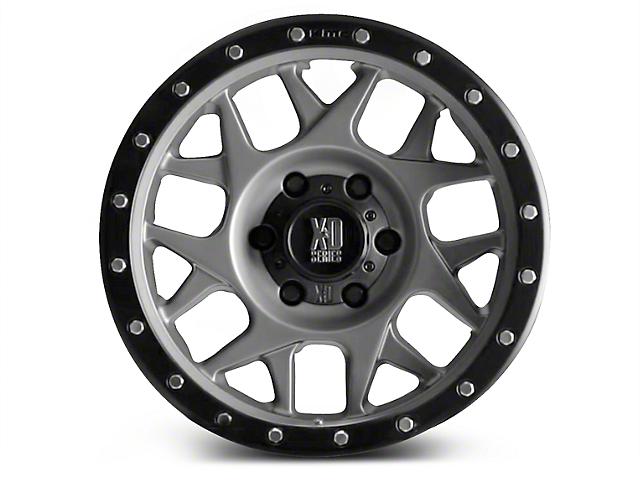 XD Bully Matte Gray w/ Black Ring 6-Lug Wheel; 20x10 (07-18 All)