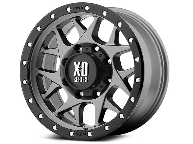XD Bully Matte Gray w/ Black Ring 6-Lug Wheel - 20x9 (07-18 Silverado 1500)