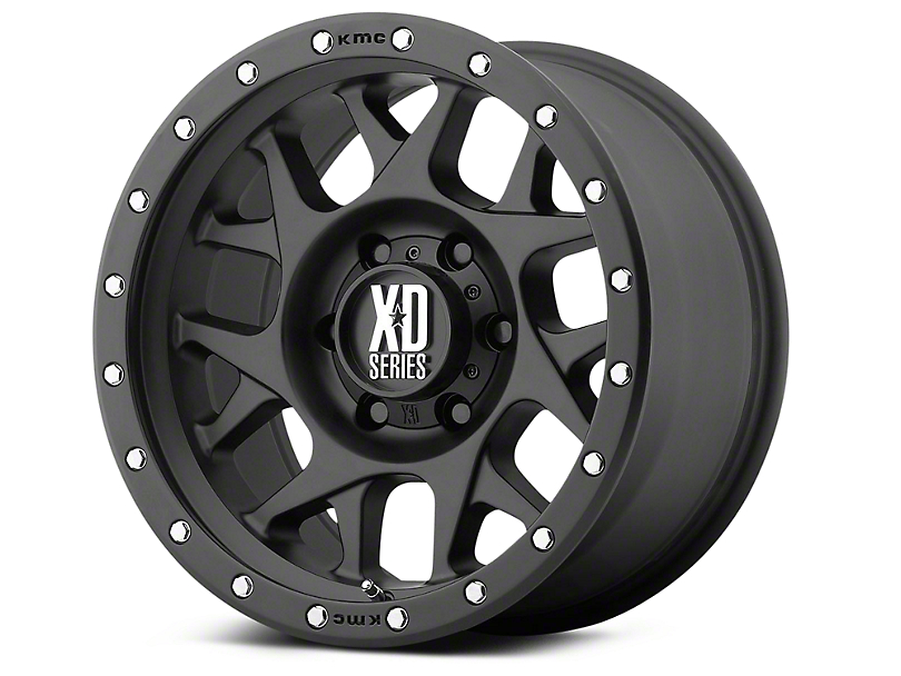 XD Bully Satin Black 6-Lug Wheel - 20x9 (99-18 Silverado 1500)